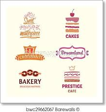 Set Of Patterns Vector Logos Cakes Logo Confectionery Coffee S