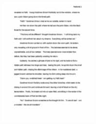 essays on young goodman brown alternate ending to young goodman  alternate ending to young goodman brown docx pastorek brennan image of page 2 nathaniel hawthorne wildcat freshmen english