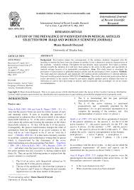 Pdf A Study Of The Prevalence Of Passivization In Medical Articles