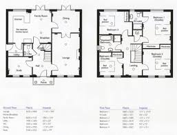 Amazing 4 Bedroom 2 Story House Floor Plans Modern 4 Bedrooms Floor Plans  Pictures