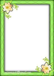 Green Frame Floral Corners Mooi Borders Pinterest Flower