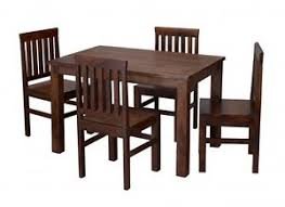 Jaipur Dining Table Set 4 Chairs Solid Sheesham Wood Indian