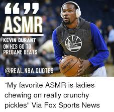 Kevin Durant Quotes Unique ASMR KEVIN DURANT ON HIS GO TO PREGAME BEATS QUOTES €�My Favorite