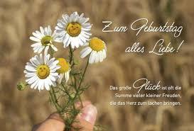 Geburtstagskarte Spruch Zum Geburtstag Alles Liebe Gänseblümchen
