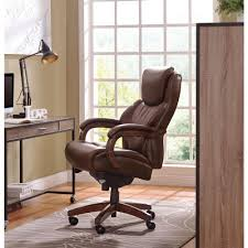 la z boy delano chestnut brown bonded leather executive office chair