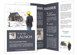 Builder Sees The Model Of The Future Home Brochure Template
