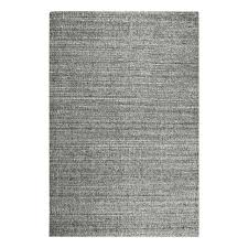 Striped area rug Runner My Swanky Home My Swanky Home Soft Hand Woven Light Gray Striped Area Rug 10 Wool Textured