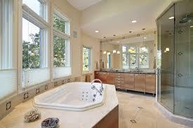 bathroom with pendant lights