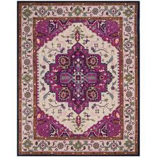 safavieh bellagio 8 x 10 hand tufted rug in ivory and pink