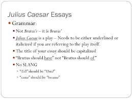 julius caesar essays introduction paragraph ppt video online  julius caesar essays grammar not brutus s it is brutus