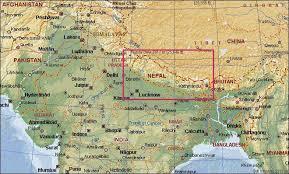 everest trek, nepal november 2000 Nepal India Map Nepal India Map #46 nepal india border map