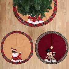 1pcs snowman new year tree skirt carpet party ornaments decoration for home