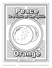 Fruit Of The Spirit For Kids Peace Coloring Page