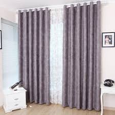 image of purple blackout curtains modern