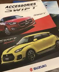 2018 suzuki cars. perfect suzuki 2018 suzuki swift sport accessories brochure leak to cars 2