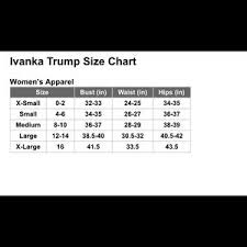 Ivanka Trump Dress Size Chart Www Bedowntowndaytona Com