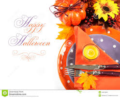 Happy Halloween Or Thanksgiving Party Table Place Setting