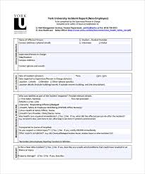 Free 34 Sample Incident Report Templates In Pdf Word