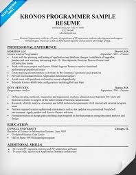 #Kronos Programmer Resume Example (resumecompanion.com) | Resume Samples  Across All Industries | Pinterest | Resume examples and Sample resume