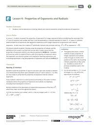 Lesson 4 Properties Of Exponents And Radicals
