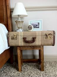 Suitcase Nightstand old and vintage brown suitcase nightstand with wooden base ideas 2311 by guidejewelry.us