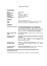 Formato De Resume Formato De Curriculum Vitae Moderno Word Formato