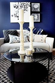 Navy Blue Living Room Beauteous Navy Blue Master Bedroom Seating Area By Cole Barnett Interiors