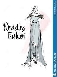 эскиз девушки моды модель способа стильная иллюстрация штока