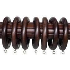 wood dry rings 2 inch walnut wood curtain rings set of 7 2 on wood dry rings