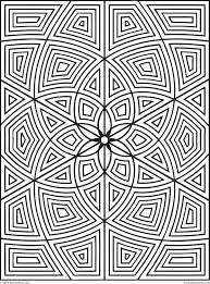 Free Geometric Design Coloring Pages Images