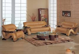 leather and wood sofa. Grandiose Curvy Wood And Leather Sofa Set With 4 Colors Option Phoenix Arizona GF2033 A