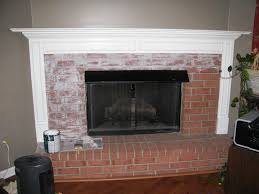 painted brick fireplace makeover ideas
