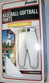 Baseball Softball Pants Youth X Small 20 22 Waist White