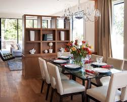 living room divider. inspiration for a contemporary medium tone wood floor dining room remodel in san francisco with white living divider i