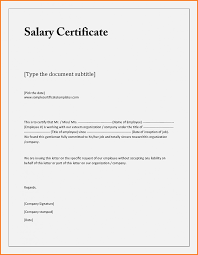 10 Salary Certificate Format In Excel Janitor Resume