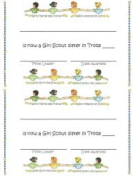 Welcome Certificate Brownie Girl Scouts Girl Scout Troop