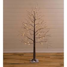 Huntington Home Led Icicle Lights Indoor Outdoor Snowy Lighted Tree With 48 Lights Plow