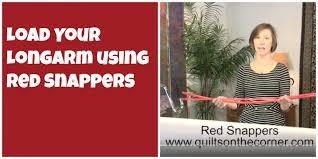 Innova Quilting Tutorial: Loading a Longarm with Red Snappers ... & Innova Quilting Tutorial: Loading a Longarm with Red Snappers - YouTube Adamdwight.com