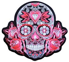Iron On Patch Mexican Tattoo Skull