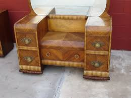 vintage art deco furniture. Popular Art Deco Antique Furniture With American Vanity Dresser Waterfall Bedroom Vintage B