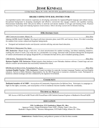 Resume Example For English Teacher Valid English Teacher Resume