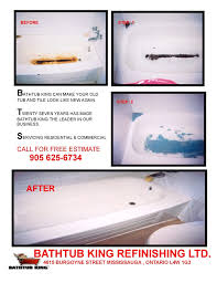 bathtub king refinishing services 1115 cerstlawn drive mississauga on phone number yelp