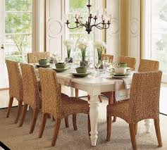 dining furniture ideas white table seagrass dining chairs plus white dining table on tan carpet plus chan