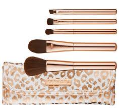 leopard makeup brush holder onesque safari brushes collection sephora be spotted skinny brush set
