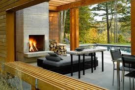 modern outdoor fireplace ideas the eye catcher in the patio landscapeconcrete fireplace outdoor furniture modern outdoor
