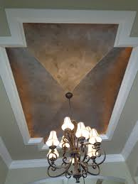 Modern Masters Silver Metallic Paint ceiling by Peter Panagiotakakos of  European Faux Finishes in Texas