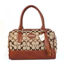 Coach Legacy Weekend In Signature Medium Brown Satchels ADO
