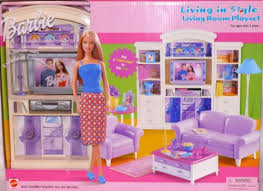 barbie furniture for dollhouse. living room barbie furniture living in style new mattel doll house playset for dollhouse r