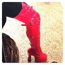 hooker boots. Red Hooker Boots A