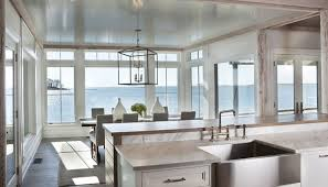the lantern is open allowing views of the water while also making a grand statement